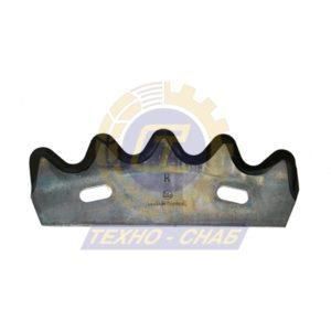 Нож кормосмесителя горизонт. 30-0210-75-01-0 - Запасные части для кормоуборочной техники (Ножи на миксеры, кормосмесители)