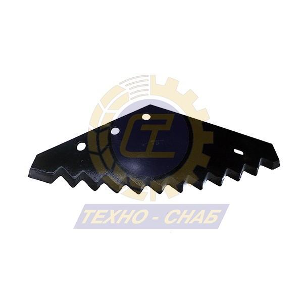 Нож кормосмесителя с наплавкой 30-0550-66-01-2 - Запасные части для кормоуборочной техники (Ножи на миксеры, кормосмесители)