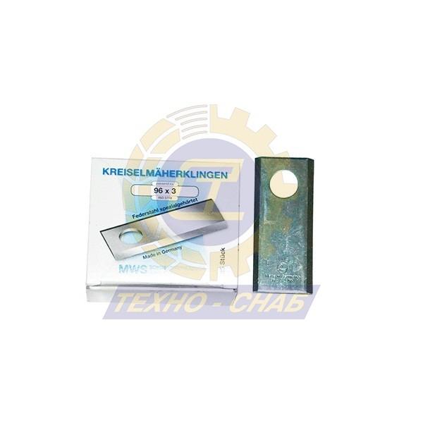 Нож дисковой косилки (96x40x3 мм, d19) 60-0100-04-01-7 - Запасные части для кормоуборочной техники (Ножи на дисковые косилки)