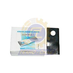 Нож дисковой косилки (105x48x4 мм, d19) 60-0105-31-01-7 - Запасные части для кормоуборочной техники (Ножи на дисковые косилки)