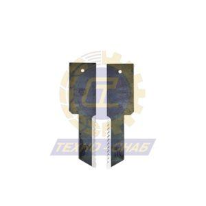 Нож дисковой косилки (108x48x4 мм, d21) 60-0108-31-01-7 - Запасные части для кормоуборочной техники (Ножи на дисковые косилки)