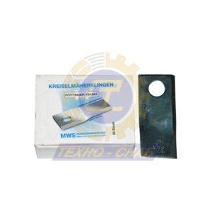 Нож дисковой косилки (112x48x4 мм, d21) 60-0112-46-01-7 - Запасные части для кормоуборочной техники (Ножи на дисковые косилки)