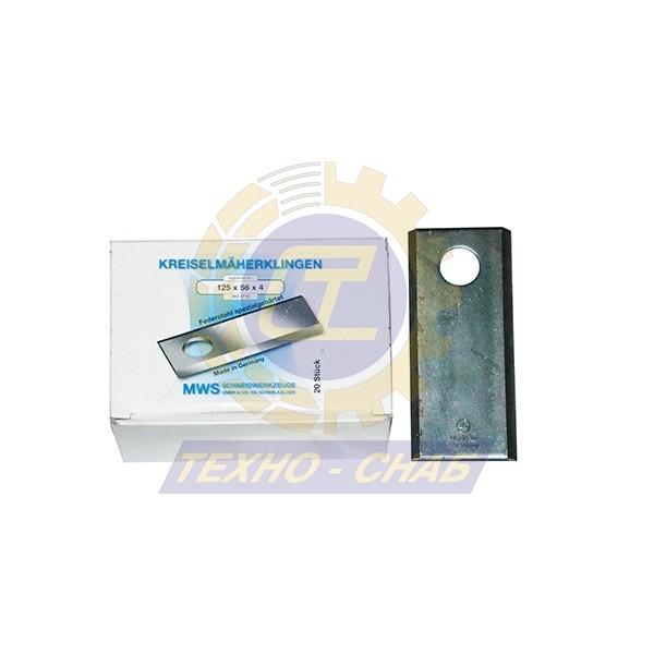 Нож дисковой косилки короткий (125х40х4 мм, d20,6)