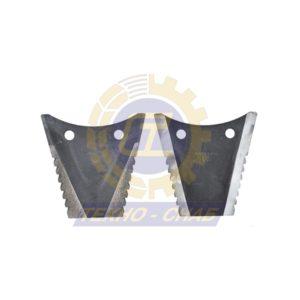 Нож измельчителя (136х135х5 мм) 60-0140-51-01-0 - Запасные части для зерноуборочной техники (Ножи, пальцы и сегменты для зерноуборочных комбайнов)