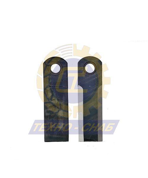 Шарнирный нож зубчатый (175х50х4,5 мм) Ø20 60-0170-58-02-0 - Запасные части для зерноуборочной техники (Ножи, пальцы и сегменты для зерноуборочных комбайнов)