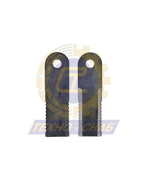Нож измельчителя зубчатый (173x50x4 мм) Ø18 60-0170-69-01-0 - Запасные части для зерноуборочной техники (Ножи, пальцы и сегменты для зерноуборочных комбайнов)