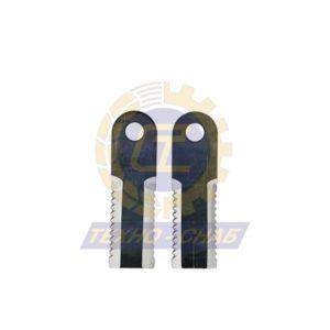 Нож измельчителя зубч.(173x50x5 мм) Ø20 60-0170-70-01-0 - Запасные части для зерноуборочной техники (Ножи, пальцы и сегменты для зерноуборочных комбайнов)