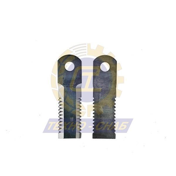 Нож измельчителя активный без втулки зубч. (175x50x4,5 мм) Ø20 60-0170-71-01-0 - Запасные части для зерноуборочной техники (Ножи, пальцы и сегменты для зерноуборочных комбайнов)