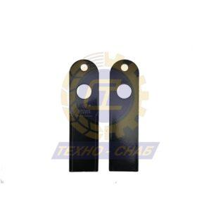 Нож противорежущий (190x51x4 мм) Ø12 Ø25 60-0190-06-01-2 - Запасные части для зерноуборочной техники (Ножи, пальцы и сегменты для зерноуборочных комбайнов)