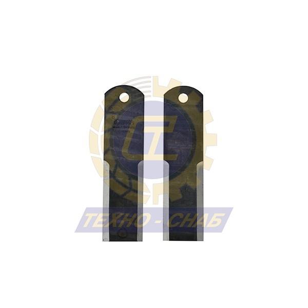 Нож измельчителя пассивный (195x50x3 мм) Ø12 60-0200-01-01-0 - Запасные части для зерноуборочной техники (Ножи, пальцы и сегменты для зерноуборочных комбайнов)