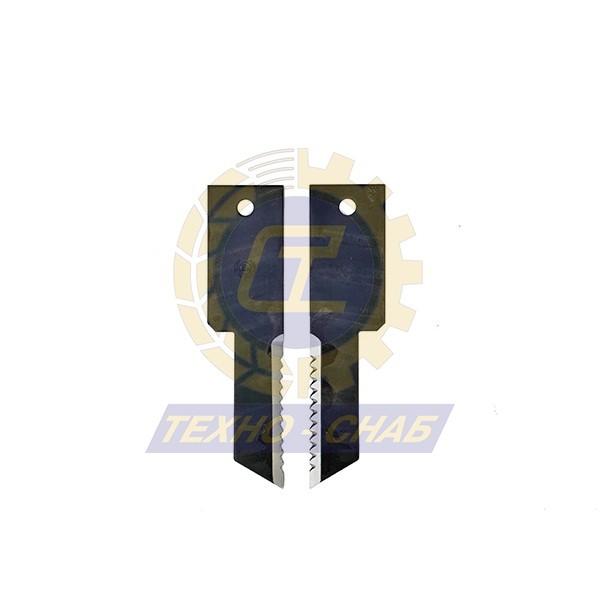 Нож противорежущий гладкий (198,5x50 мм / 32x3) 60-0200-43-01-0 - Запасные части для зерноуборочной техники (Ножи, пальцы и сегменты для зерноуборочных комбайнов)
