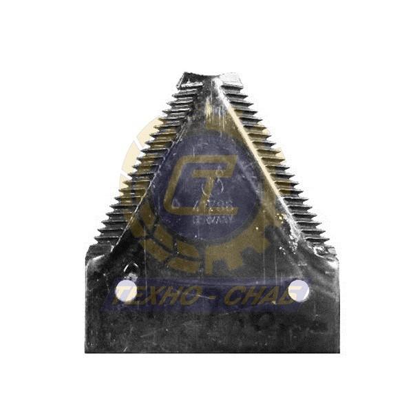 Сегмент с грубой насечкой 80-4-0031-g - Запасные части для зерноуборочной техники (Ножи, пальцы и сегменты для зерноуборочных комбайнов)